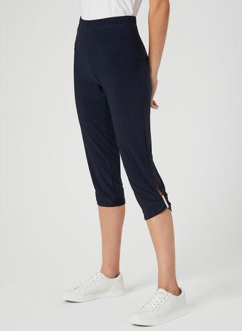 Jersey Capri Pants, Blue, hi-res