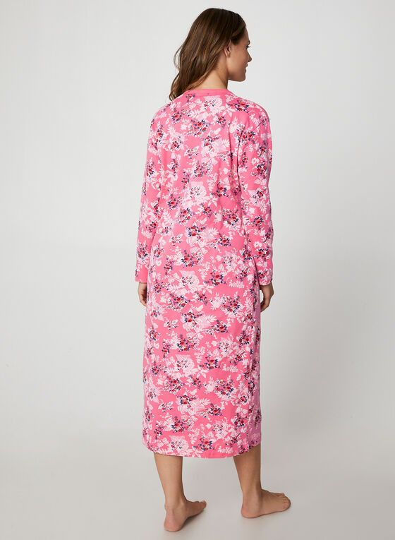 Hamilton - Floral Print Cotton Nightgown , Pink