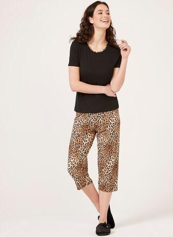 Hamilton - Ensemble pyjama à motif léopard, Noir, hi-res