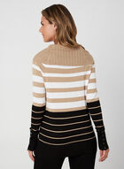 Marilyn Neck Sweater, Brown, hi-res