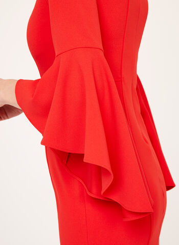 Off The Shoulder Bell Sleeve Dress, , hi-res