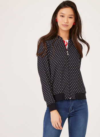 Polka Dot Bomber, Blue, hi-res
