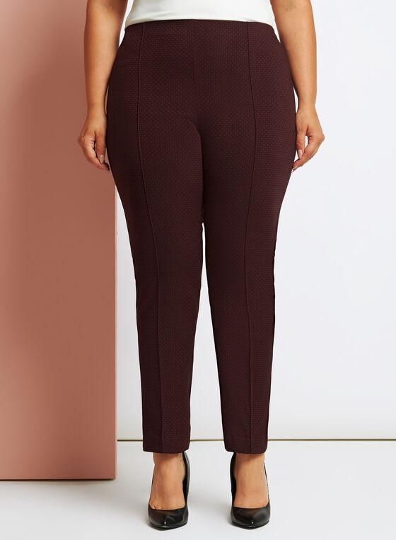 Geometric Print Modern Fit Slim Leg Pants, Black, hi-res