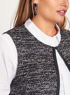 Long Static Print Vest, Black, hi-res