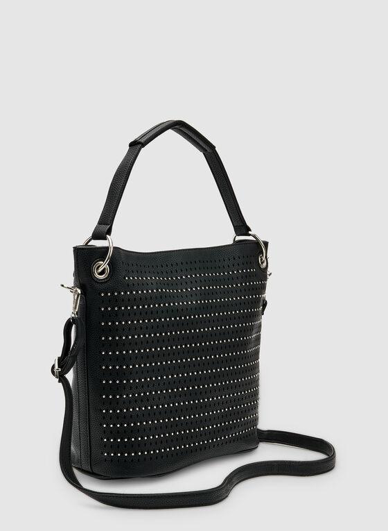 Stud Detail Bucket Bag, Black