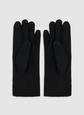 Nylon Gloves, Black, hi-res,  nylon, gloves, mink, pompom, fall 2019, winter 2019