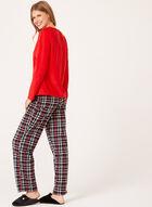 Pillow Talk - Ensemble pyjama hibou à carreaux, Rouge, hi-res
