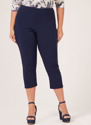 Pull-On Capris , Blue, hi-res