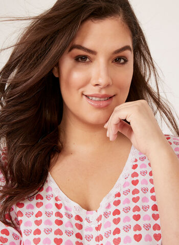 Hamilton - Cotton Button Down Pajamas, Pink, hi-res