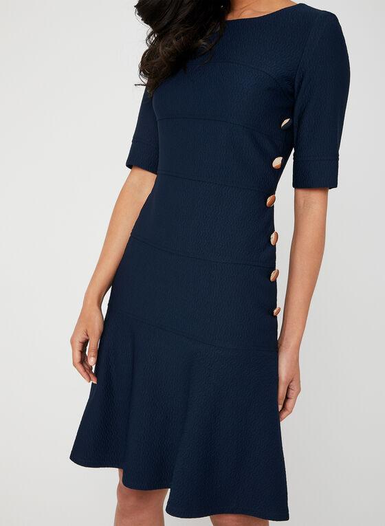 Button Detail Dress, Blue, hi-res