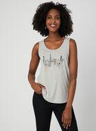 Embellished Sleeveless Top, Grey, hi-res