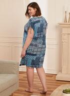 Chemise de nuit à détails cordons, Bleu