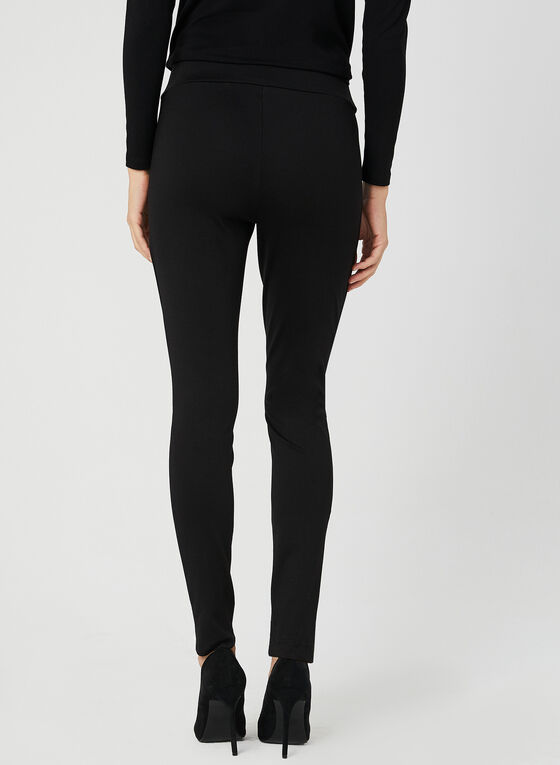 Legging en point de Rome, Noir