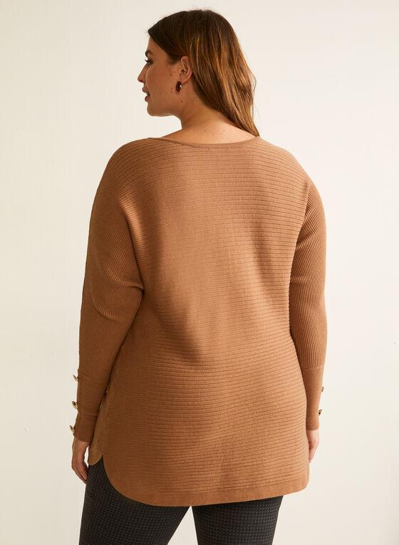 Dolman Sleeve Sweater, Brown