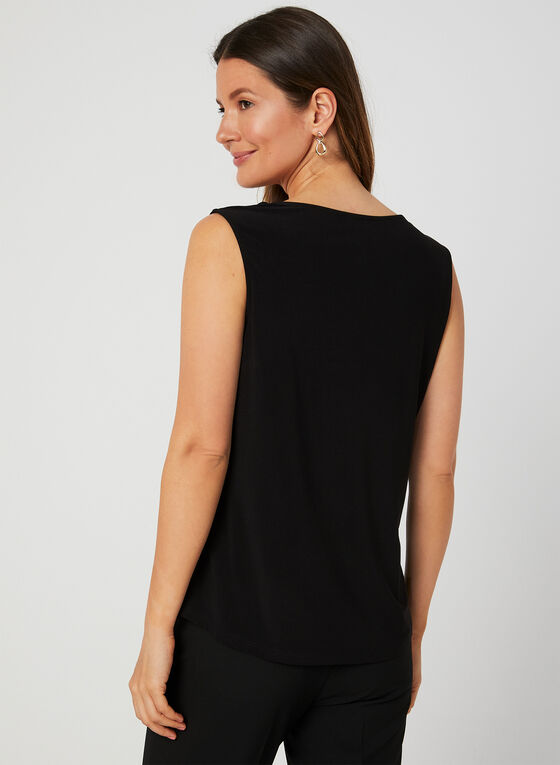Sleeveless Jersey Top, Black