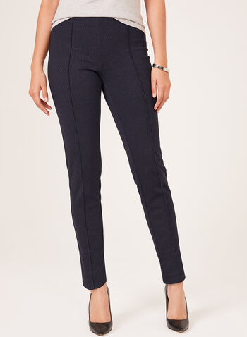 City Fit Pull-On Straight Leg Pants , Blue, hi-res