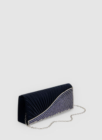 Embellished Clutch, Blue, hi-res