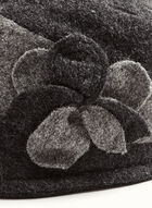 Flower Detail Wool Cloche Hat , Grey, hi-res
