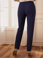 Straight Leg Pleated Pants, Blue