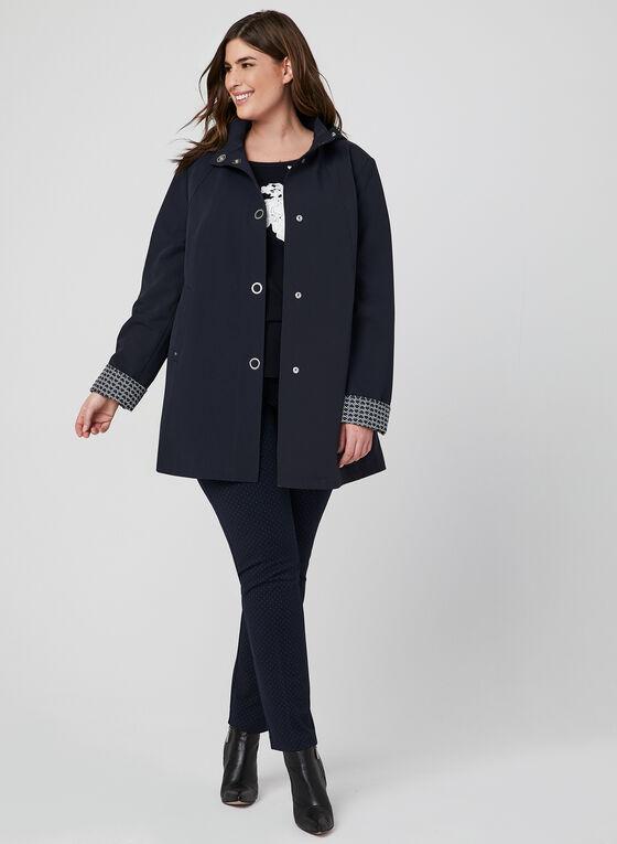 Manteau imperméable à capuchon, Bleu, hi-res