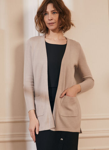 Long Sleeve Open Front Cardigan, Grey,  open front, cardigan, knit cardigan, long sleeves, spring 2020, summer 2020