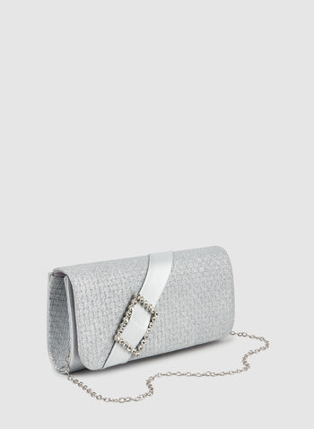 Glitter Clutch, Silver,  fall winter 2019, clutch, evening bag