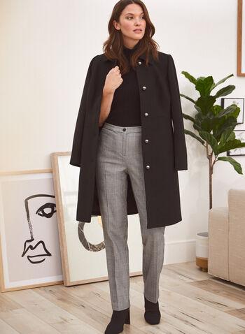 Signature Fit Straight Leg Pants, Black,  fall winter 2020, pants, signature fit, tartan print, pleats, straight leg, pockets