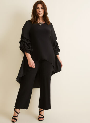 Wide Leg Pants, Black,  dress pants