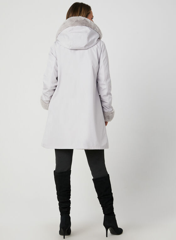 Reversible Hooded Coat, Silver