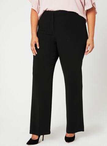 Louben - Pantalon coupe signature à jambe large, Noir, hi-res,