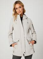 Softshell Hooded Transition Coat, Brown, hi-res