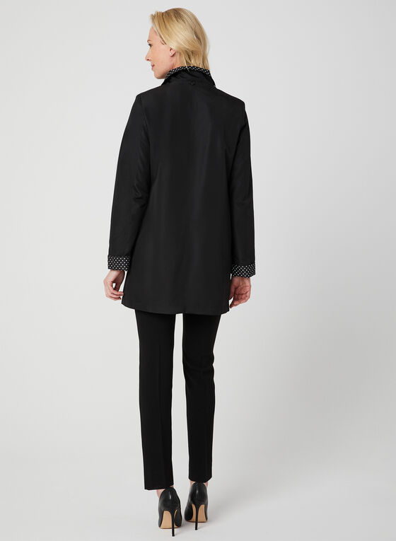Fennelli - Hooded Raincoat, Black