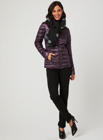 Nuage - Packable Down Coat , Purple, hi-res