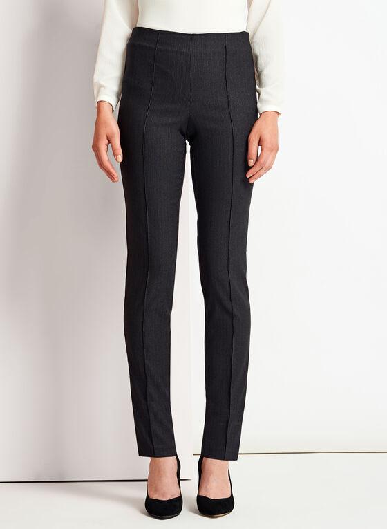 City Fit Slim Leg Geometric Print Pants, Black, hi-res