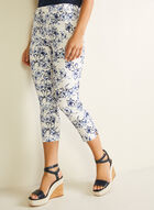 Jules & Leopold - Tropical Print Pull-On Capris, Blue