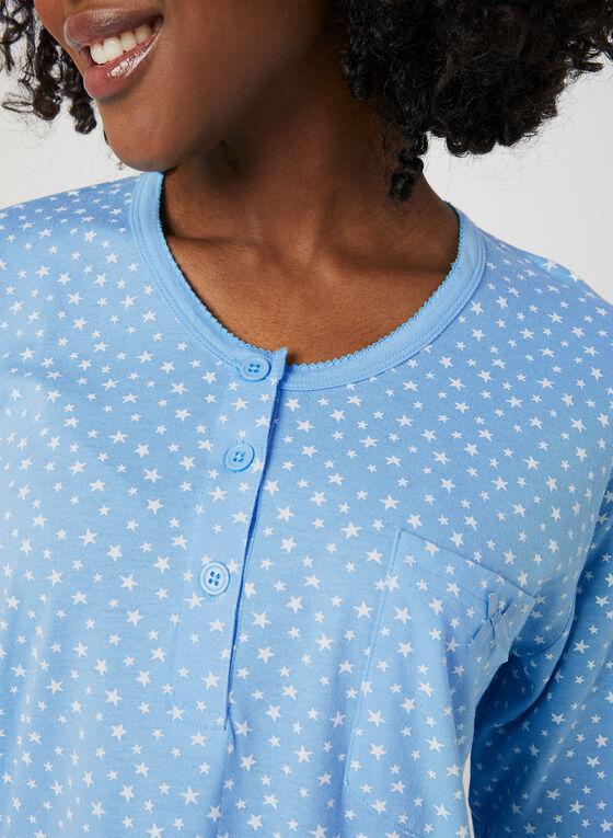 Bellina - Chemise de nuit étoilée, Bleu