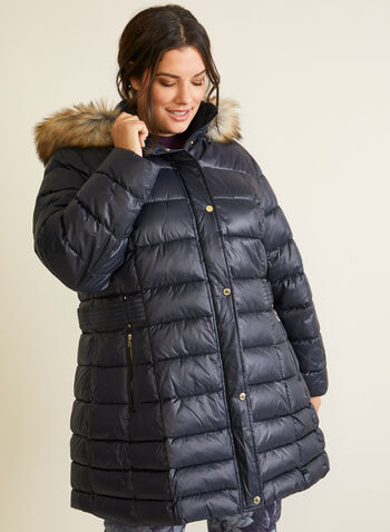 Laundry - Quilted Vegan Down Coat, Blue,  coat, down, quilted, good, fall winter 2020