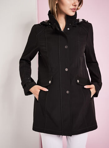 Hooded Jersey Anorak Coat, , hi-res