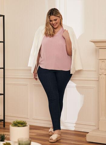V-Neck Sleeveless Blouse, Purple,  blouse, sleeveless, v-neck, high low, spring summer 2020
