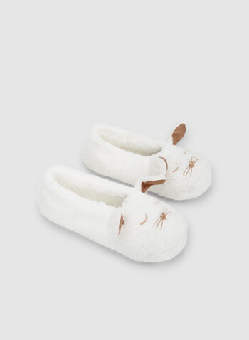 Bunny Slippers, White,  sleepwear, slippers, non-slip sole, fall 2019, winter 2019