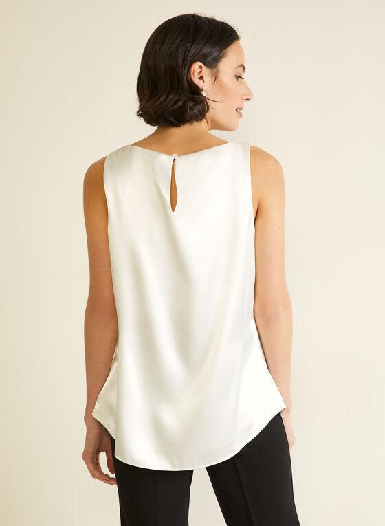 Sleeveless Satin Blouse, White
