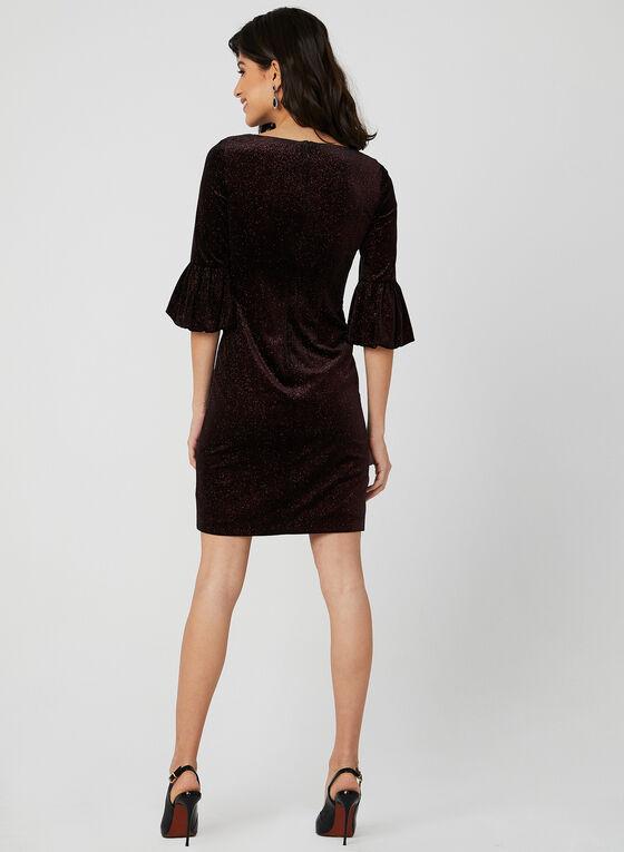 Velvet Glitter Dress, Red
