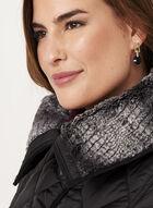 Weatherproof - Diamond Quilted Faux Fur Collar Coat, Black, hi-res