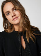 Nina Leonard - Boléro à bande cloutées, Noir