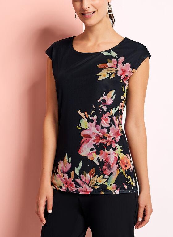 Drop Shoulder Floral Print Top, Multi, hi-res