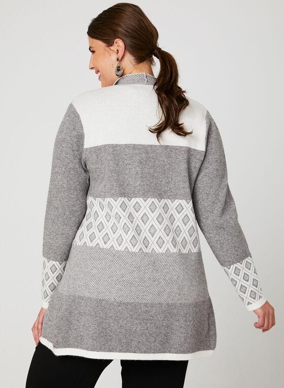Cardigan ouvert imitation laine, Gris, hi-res