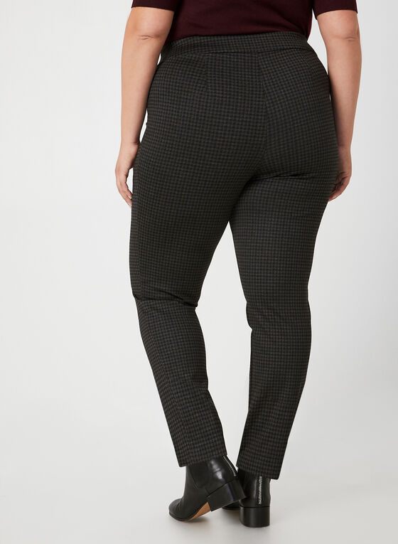 City Fit Houndstooth Pants, Black