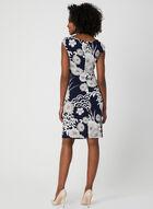 Floral Print Cowl Neck Dress, Brown