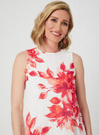Jessica Howard - Floral Print Chiffon Dress, Off White, hi-res