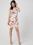 Floral Print Tiered Dress, Pink